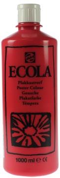 Talens Plakkaatverf Ecola flacon van 1.000 ml scharlakenrood