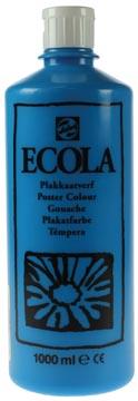 Talens Plakkaatverf Ecola flacon van 1.000 ml lichtblauw