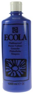 Talens Plakkaatverf Ecola flacon van 1.000 ml donkerblauw