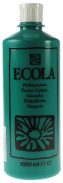 Talens Plakkaatverf Ecola flacon van 1.000 ml donkergroen