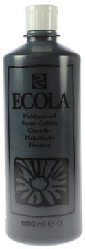 Talens Plakkaatverf Ecola flacon van 1.000 ml zwart