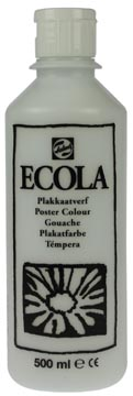 Talens Plakkaatverf Ecola flacon van 500 ml wit