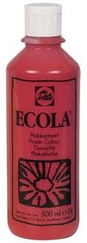 Talens Plakkaatverf Ecola flacon van 500 ml karmijnrood