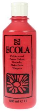 Talens Plakkaatverf Ecola flacon van 500 ml scharlakenrood