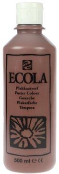 Talens Plakkaatverf Ecola flacon van 500 ml bruin