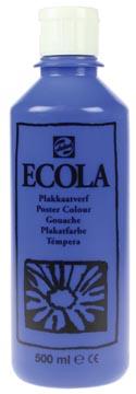 Talens Plakkaatverf Ecola flacon van 500 ml donkerblauw