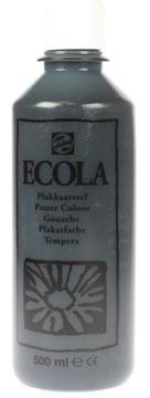 Talens Plakkaatverf Ecola flacon van 500 ml zwart