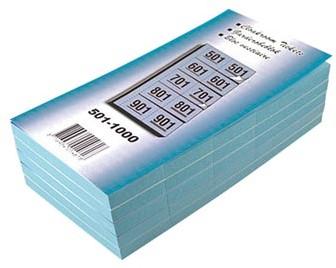Garderobeblokken nummers van 501 t/m 1.000 blauw