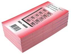 Garderobeblokken nummers van 501 t/m 1.000 kers