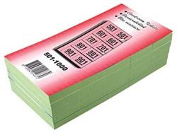 Garderobeblokken nummers van 501 t/m 1.000 groen