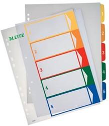 Leitz tabbladen printbaar met 1-5 genummerd tabs