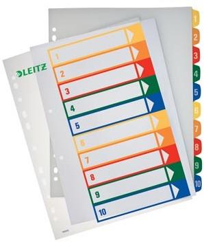 Printbare tabbladen A4 extra breed met 1-10 genummerde tabs