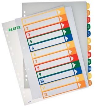 Printbare tabbladenA4 extra breed met 1-12 genummerde tabs