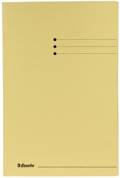Dossiermap folio geel met kleppen