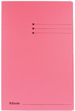 Dossiermap folio roze met kleppen