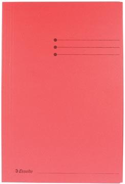 Dossiermap folio rood met kleppen