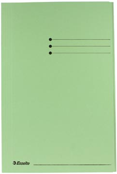 Esselte Manilla dossiermap folio groen met kleppen