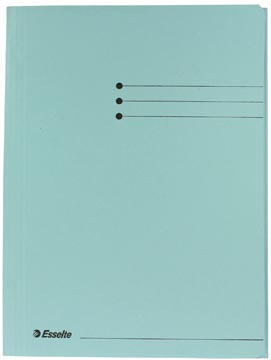 Dossiermap A4 blauw met kleppen