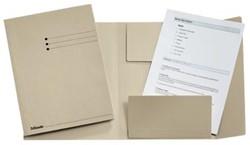 Dossiermap A4 grijs met kleppen