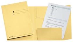 Dossiermap A4 geel met kleppen