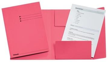 Dossiermap A4 roze met kleppen