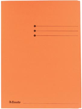 Dossiermap A4 oranje met kleppen