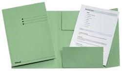 Dossiermap A4 groen met kleppen