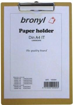 Houten klemplaat A4 23 x 33 cm