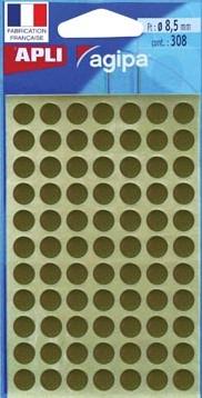 Agipa ronde etiketten 8mm goud