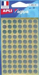 Agipa ronde etiketten 8mm zilver