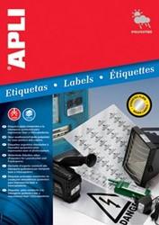 Apli Zilverkleurige etiketten ft 45,7 x 21,2 mm, 960 stuks, 48 per blad