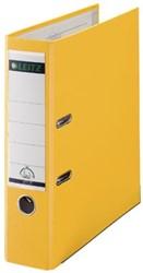 Leitz ordner 1015 smal kunststof geel 8cm rug