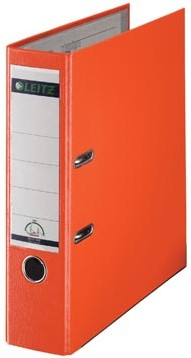 Leitz ordner 1010 kunststof oranje 8cm rug