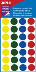 Apli ronde verwijderbare etiketten 15mm geassorteerde kleuren
