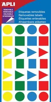 Apli geassorteerde vormen verwijderbare etiketten geassorteerde kleuren