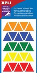 Apli driehoek verwijderbare etiketten 19 mm