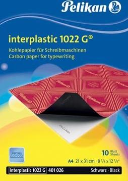 Pelikan carbonpapier Interplastic 1022G etui van 10 blad