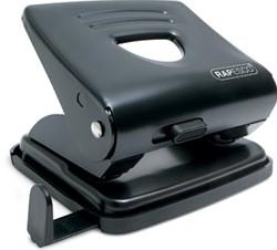 Rapesco metalen 2-gaatsperforator 825 zwart, op blister