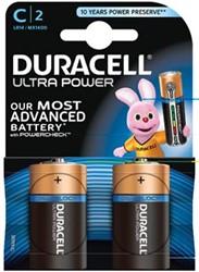 Duracell batterij Ultra Power C 2 stuks