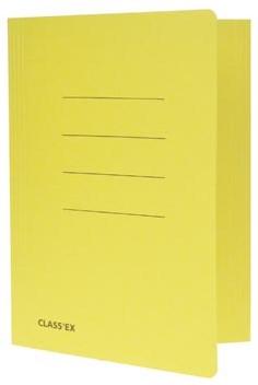 Dossiermappen A4 geel ds/50