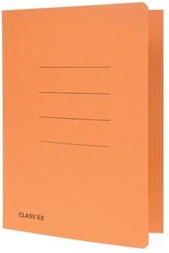 Stofklepmap oranje schrift formaat