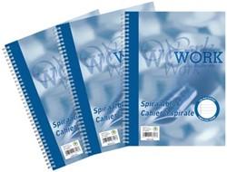 Work, spiraalblok, ft A4, 70 g, gelijnd, 200 bladzijden