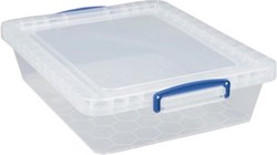 Really Useful stapelbare Box 10,5 liter, transparant, pak van 3 stuks
