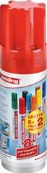Edding permanent marker 3000, koker van 6 + 2 stuks gratis in geassorteerde kleuren