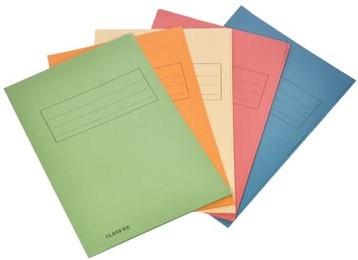 Dossiermappen karton folio geassorteerde kleuren