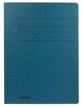 Dossiermappen folio blauw