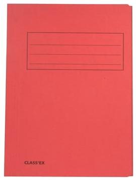 Dossiermappen karton folio kers ds/50 stuk