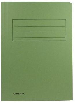 Dossiermappen karton folio groen ds/50