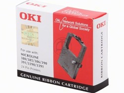 OKI tape OKI 09002309 Nylontape zwart  ML 390/391/3XX, Inhoud 2.000.000 Teken