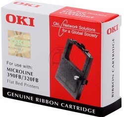 OKI tape OKI 09002310 Nylontape zwart, Inhoud 2.000.000 Teken